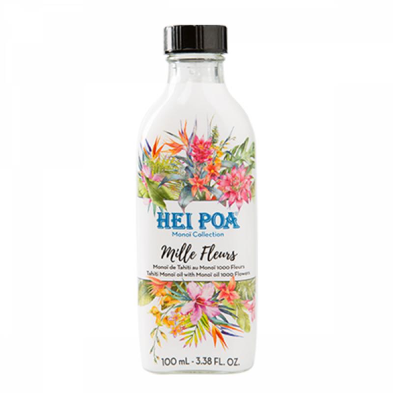 Ulei de Monoi 1000 de Flori Hei Poa, 100 ml, omega 9, vitamina E, omega 6, acid lauric 2021 shopu.ro