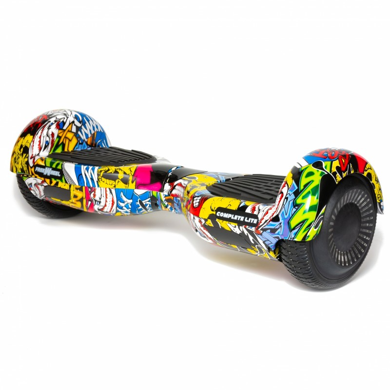 Hoverboard Complete Lite Freewheel, 2 x 200 W, autonomie 8-12 km, Bluetooth, LED-uri, difuzoare incluse, maxim 50 kg, Multicolor 2021 shopu.ro