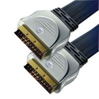 Cablu plat Gold Scart-Scart, lungime 10 m