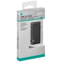 Hub mini Goobay, 4 x USB 2.0, negru