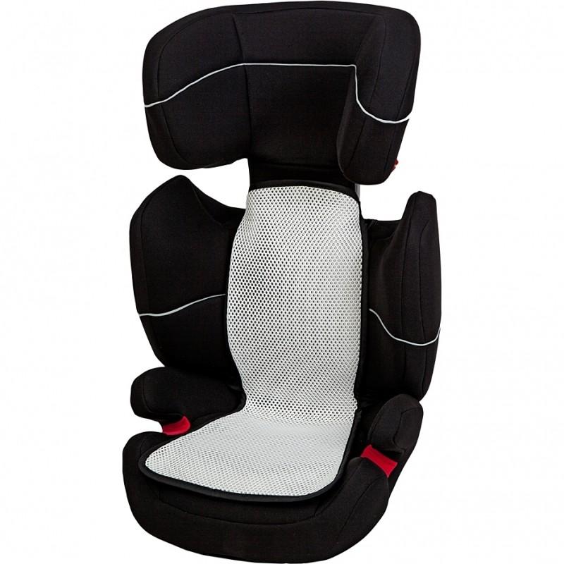 Husa antitranspiratie pentru scaun auto grupa 2-3 Altabebe, 70 x 33/24 cm, Alb/Negru 2021 shopu.ro