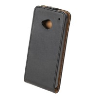 Husa Flip telefon HTC ONE M7, Negru