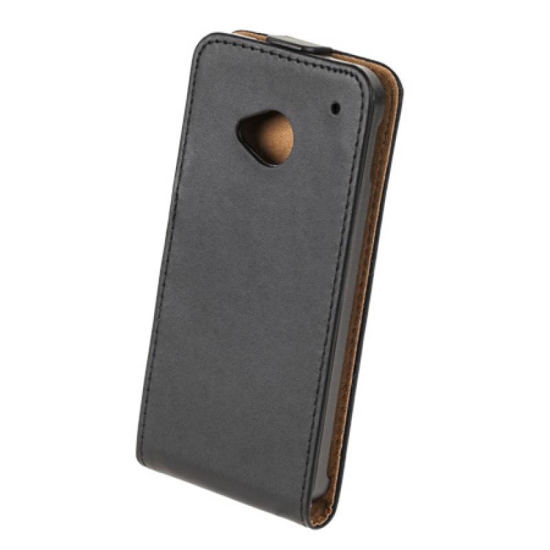 Husa Flip telefon HTC ONE M7, Negru 2021 shopu.ro