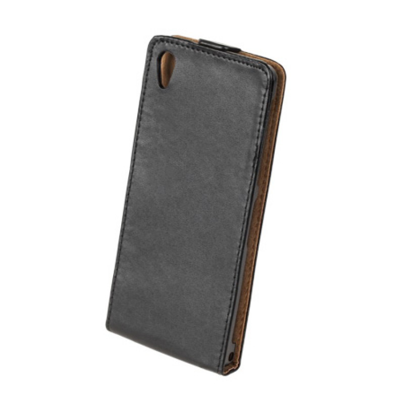 Husa Flip telefon Sony Xperia Z2, Negru 2021 shopu.ro