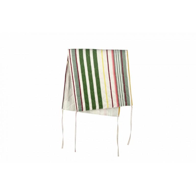 Husa pentru scaun Heinner, 47 x 100 cm, bumbac, model dungi, Roz/Verde shopu.ro