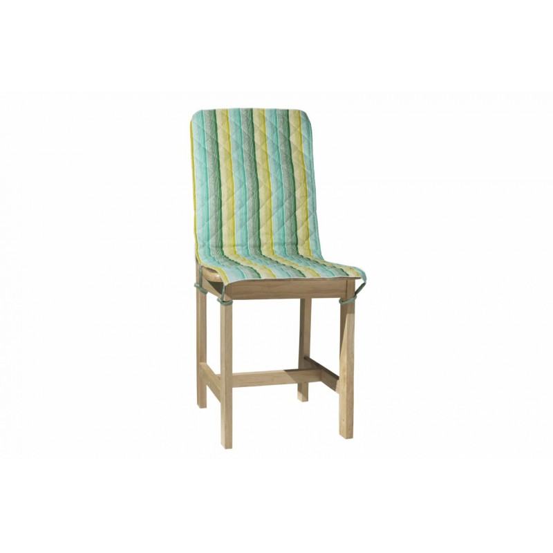 Husa pentru scaun Heinner, 47 x 100 cm, bumbac, model dungi, Verde shopu.ro