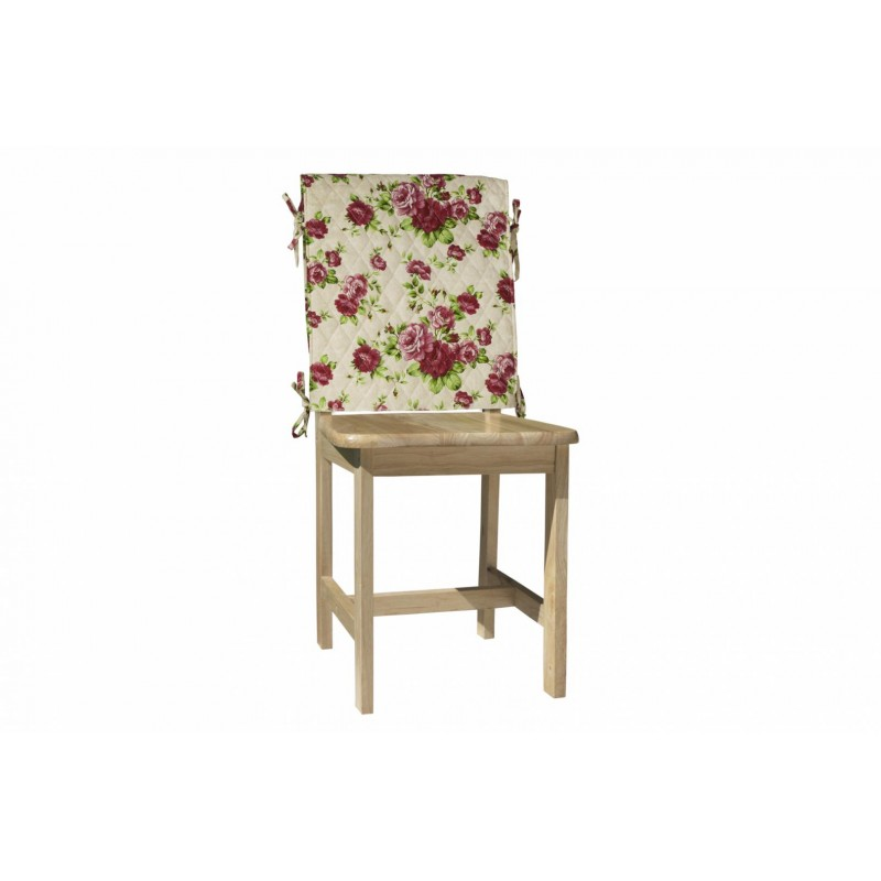 Husa pentru scaun Heinner, 47 x 100 cm, bumbac, model flori, Roz/Crem shopu.ro
