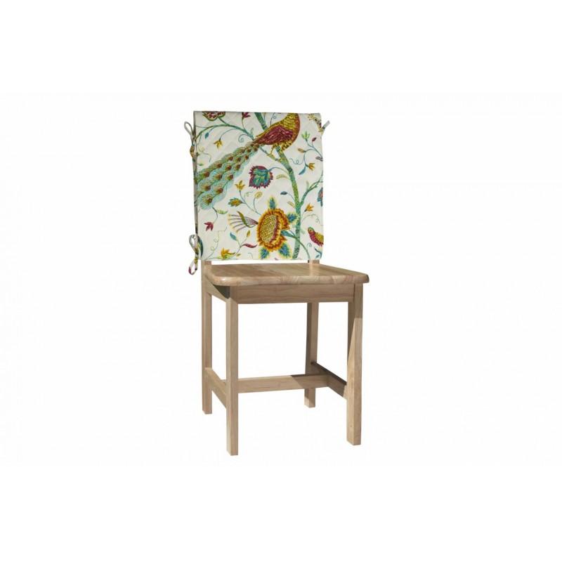 Husa pentru scaun Heinner, 47 x 100 cm, bumbac, model pauni, Multicolor shopu.ro