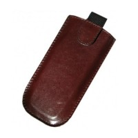 Husa piele naturala telefon Apple iPhone, inchidere magnet, Maro