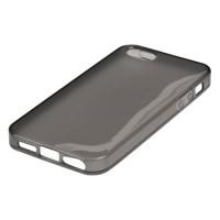 Husa silicon pentru iPhone 5/5S, Negru
