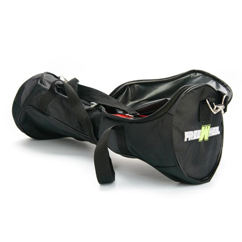 Husa pentru hoverboard Freewheel, 6.5 inch, tip geanta, rotile incorporate, Negru 2021 shopu.ro