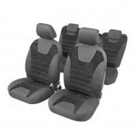 Huse scaune auto, 15 piese, material textil elastic, burete 2 mm
