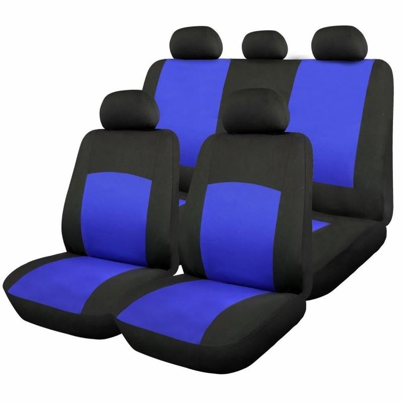 Huse scaune auto RoGroup Oxford, 9 bucati, universale, albastru 2021 shopu.ro