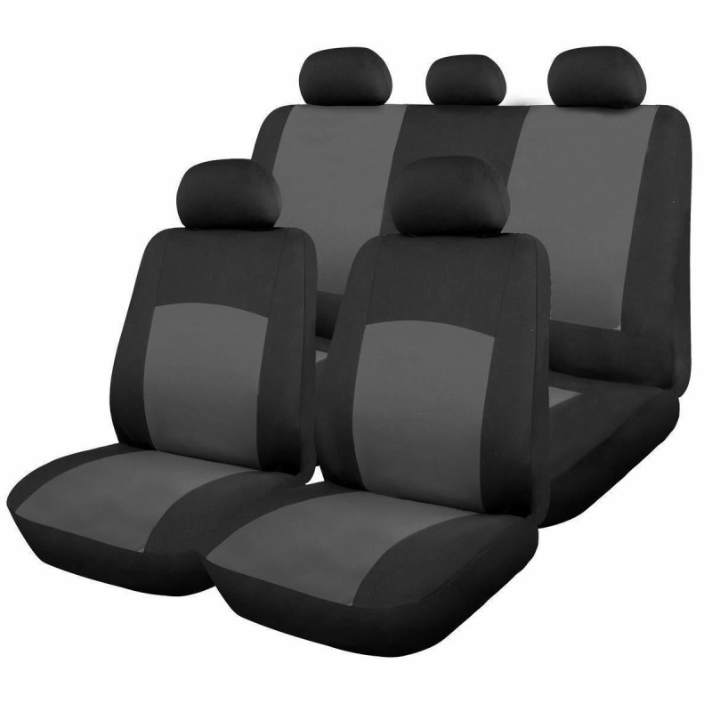 Huse scaune auto RoGroup Oxford, 9 bucati, universale, gri 2021 shopu.ro