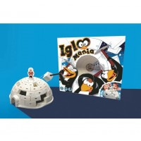 Joc de indemanare Igloo Mania Brainstorm Toys, Alb