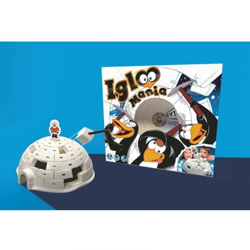 Joc de indemanare Igloo Mania Brainstorm Toys, Alb 2021 shopu.ro
