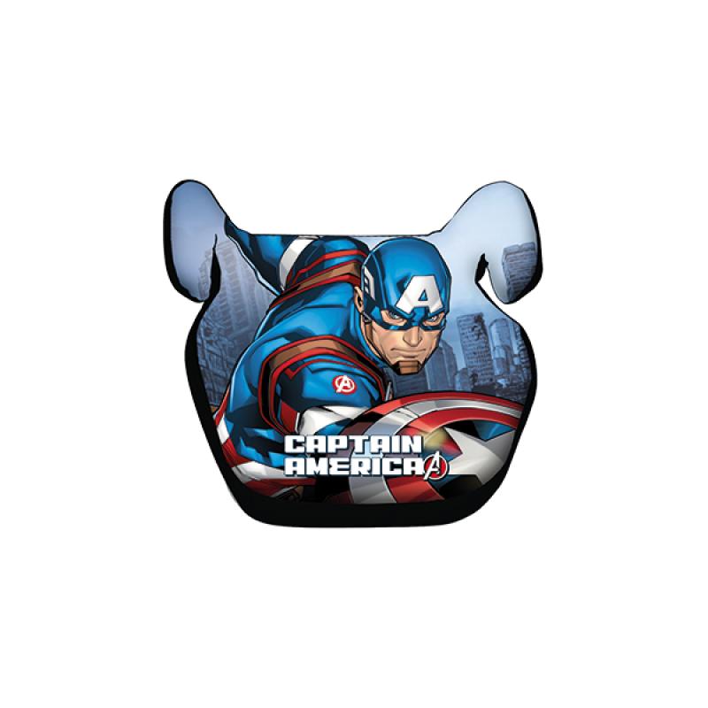 Inaltator Auto Avengers Captain America Disney, husa detasabila, 15 - 36 kg, Albastru 2021 shopu.ro