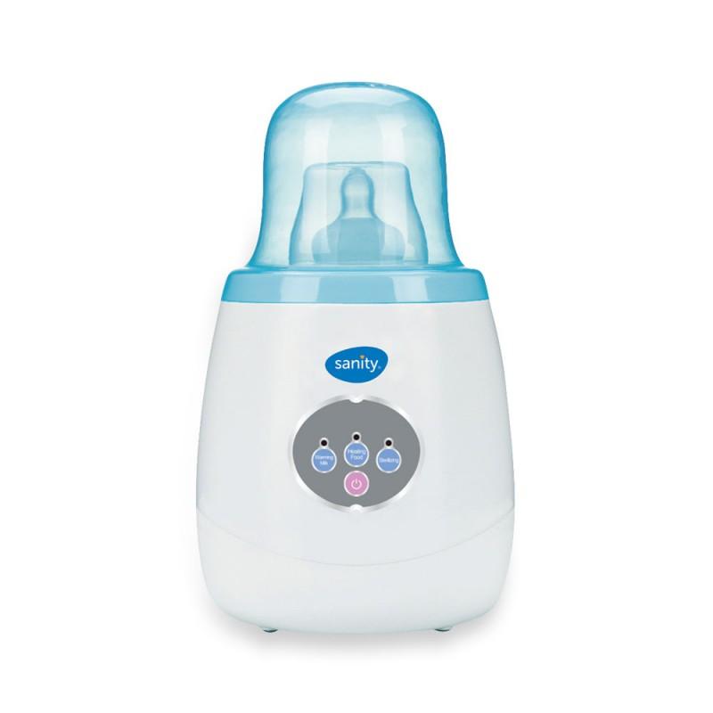 Incalzitor/sterilizator biberoane Sanity Multi Hot, otel inoxidabil, 40-100 C, LED-uri colorate, Alb/Albastru 2021 shopu.ro