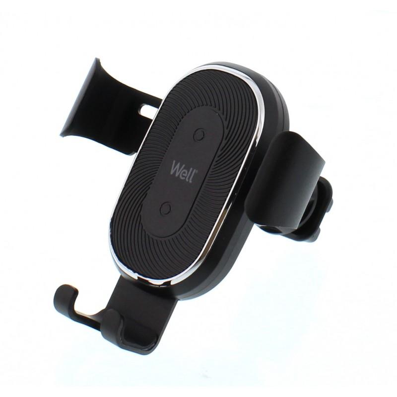 Incarcator auto wireless Assist Well, 10 W, gura de ventilatie, Negru 2021 shopu.ro