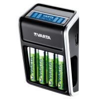 Incarcator Varta pentru acumulatori, LCD, 4 x AA, 2100 mAh, iesire USB
