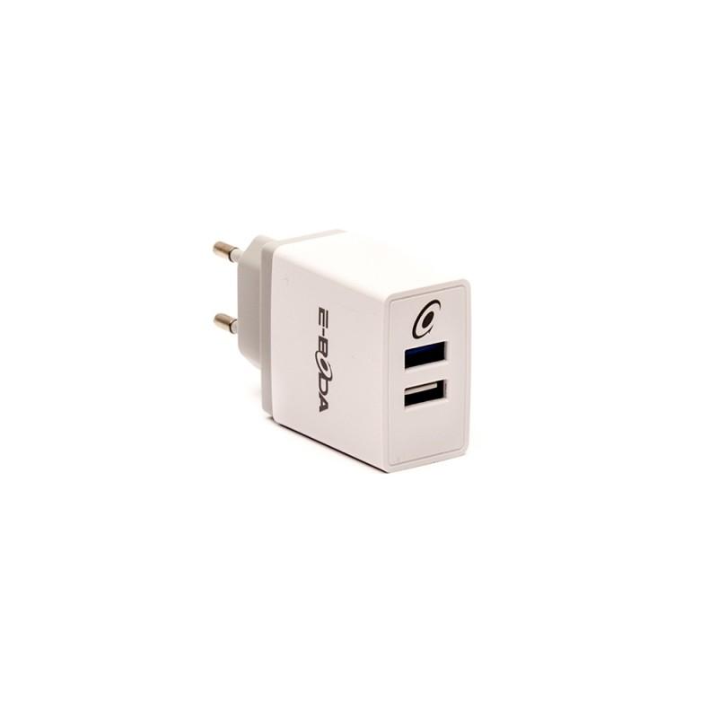 Incarcator E-Boda, 2 x USB, 9-12 V, 1.5 A, Alb 2021 shopu.ro