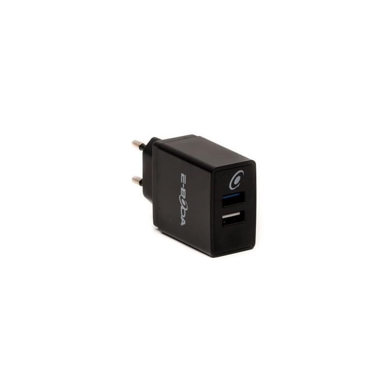Incarcator E-Boda, 2 x USB, 9-12 V, 1.5 A, Negru 2021 shopu.ro