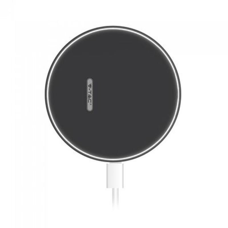 Incarcator wireless, 5 A, incarcare rapida, Negru 2021 shopu.ro