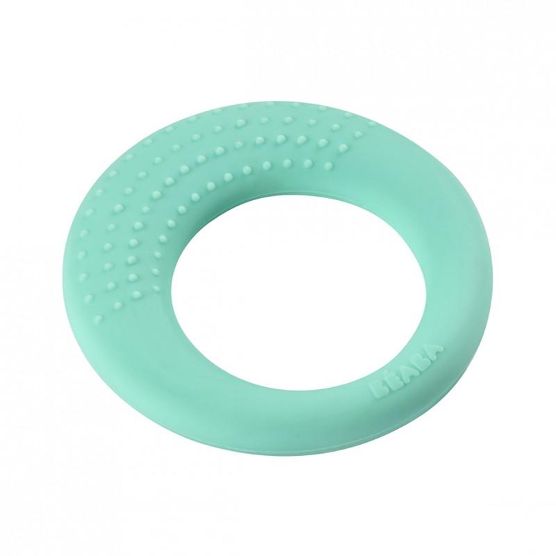 Inel pentru dentitie Aqua Beaba, silicon, 3 luni+, Turcoaz 2021 shopu.ro