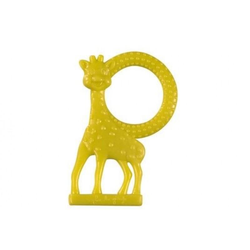 Inel pentru dentitie girafa Sophie Vulli, plastic, miros de vanilie, 3 luni+, Verde 2021 shopu.ro