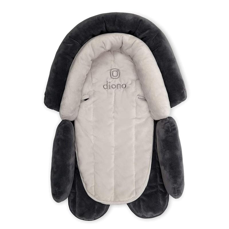 Insert nou-nascut 2 in 1 Cuddle Soft Diono, 52 x 39 x 9 cm, maxim 6.8 kg, 0 luni+, Gri