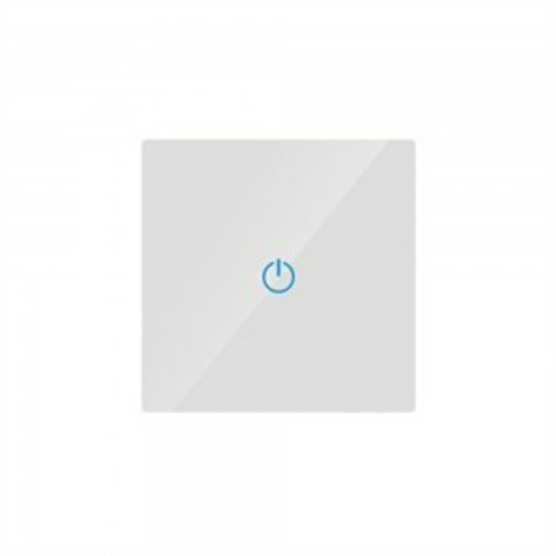 Intrerupator simplu, material sticla, touch screen, alb 2021 shopu.ro