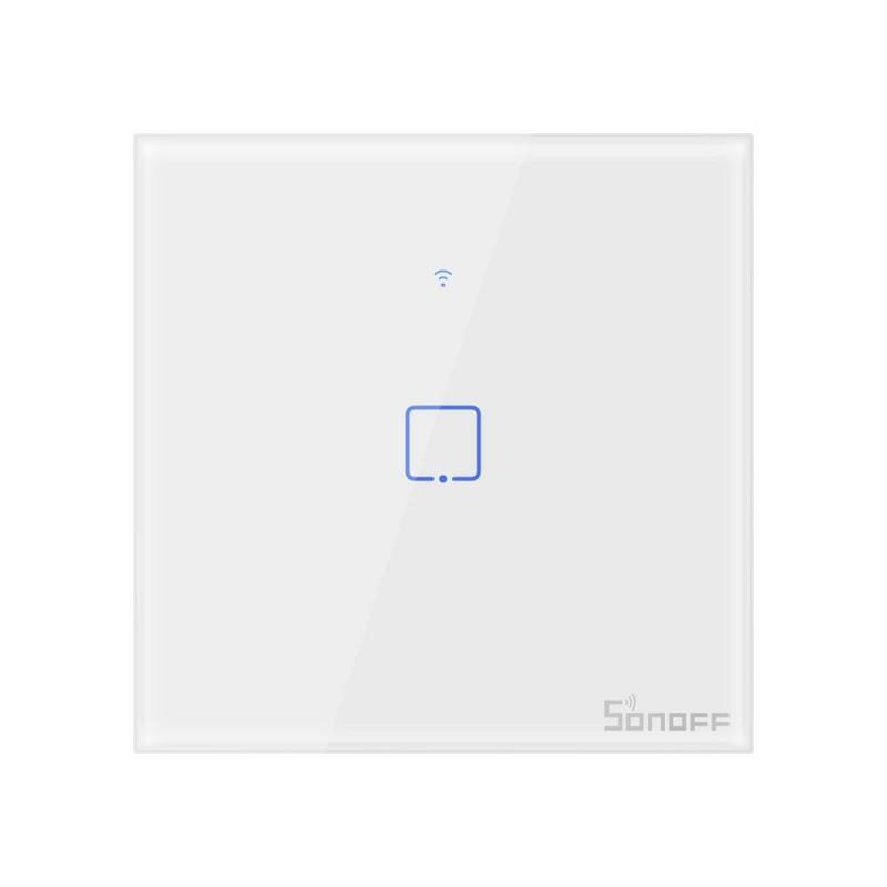 Intrerupator Smart Touch Wifi + RF 433 Sonoff T1 EU TX, 1 canal 2021 shopu.ro