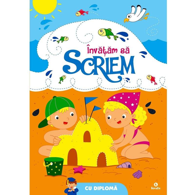 Carte pentru copii Invatam sa scriem Editura Kreativ, 32 pagini, 3-6 ani 2021 shopu.ro