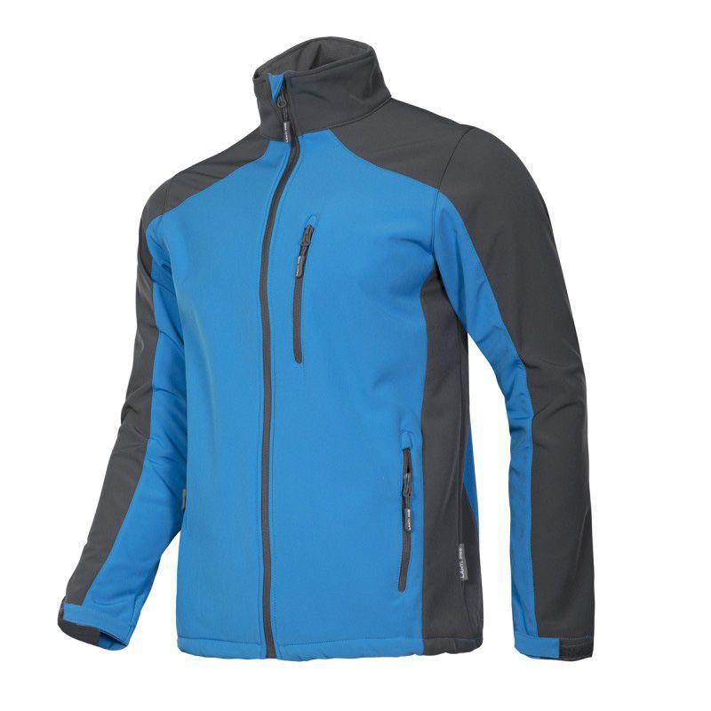 Jacheta elastica impermeabila, marime 2XL, poliester, captuseala micropolar, 5 buzunare, componente reflectorizante, Albastru/Negru 2021 shopu.ro