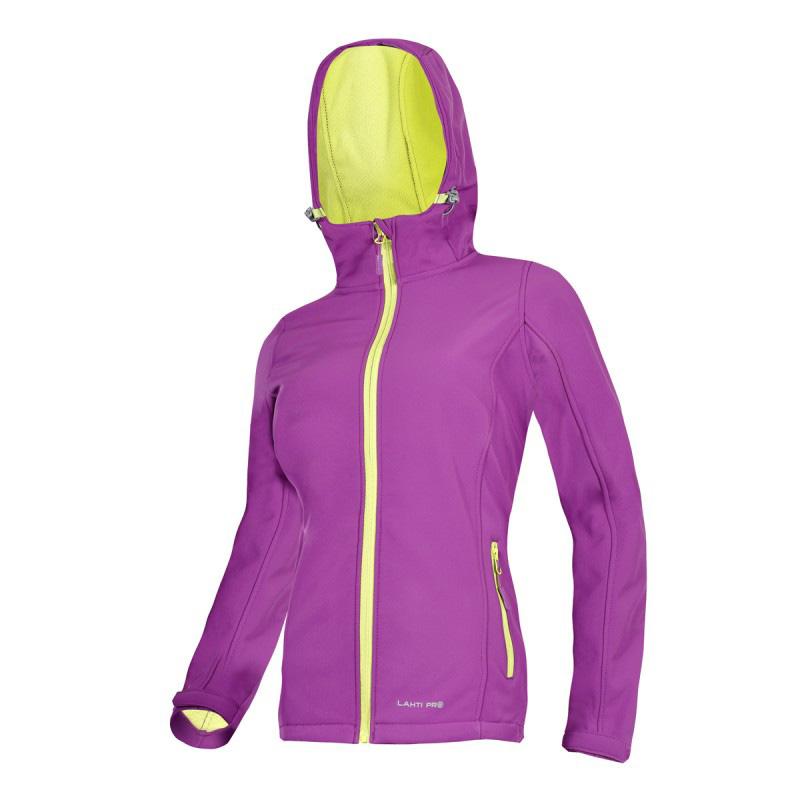 Jacheta dama elastica cu gluga, 4 buzunare, impermeabila, termoizolatoare, marime M, Violet