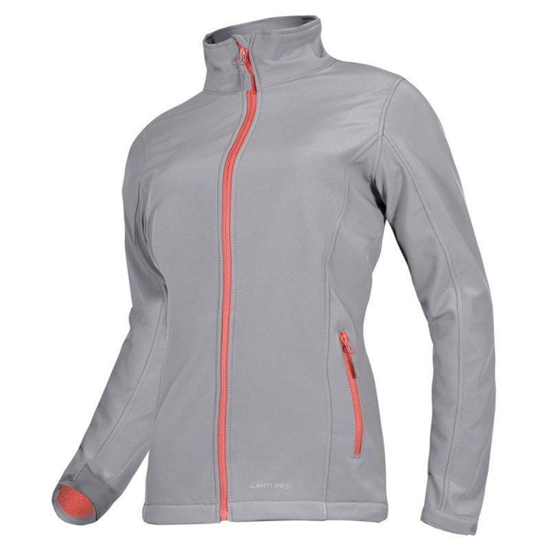 Jacheta elastica impermeabila, marime L, poliester, captuseala micropolar, 4 buzunare, componente reflectorizante, Gri 2021 shopu.ro