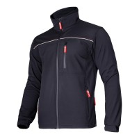 Jacheta elastica, 6 buzunare, impermeabila, componente reflectorizante, marime 3XL, Negru