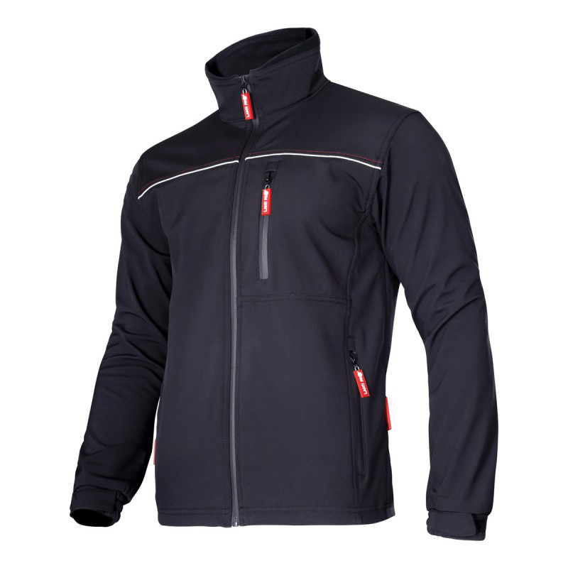Jacheta elastica, 6 buzunare, impermeabila, componente reflectorizante, marime XL, Negru 2021 shopu.ro