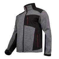 Jacheta elastica tip pulover, componente reflectorizante, impermeabila, 4 buzunare, marime L, Gri/Negru