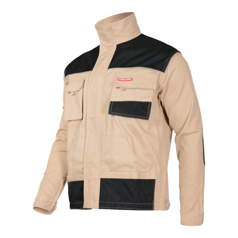 Jacheta lucru groasa, bumbac, 7 buzunare, inchidere prin fermoar, marime 2L/54 2021 shopu.ro