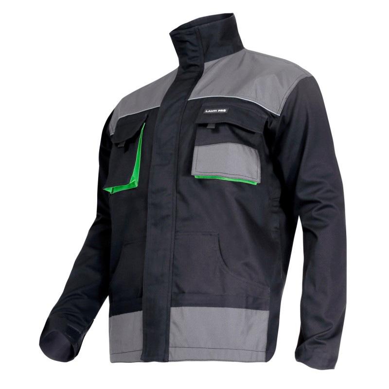 Jacheta lucru groasa, bumbac, 7 buzunare, inchidere fermoar, componente reflectorizante, marime 2L/54 2021 shopu.ro