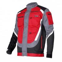 Jacheta lucru groasa premium nuantata, 9 buzunare, benzi reflectorizante, marime XL