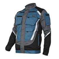 Jacheta lucru groasa premium, 9 buzunare, benzi reflectorizante, marime XL