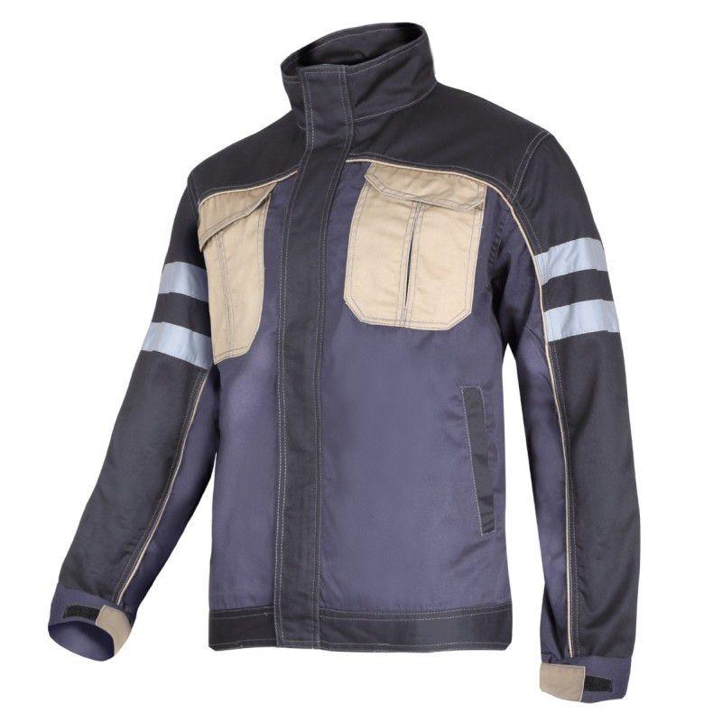 Jacheta lucru mediu-groasa cu reflectorizant, 4 buzunare, cusaturi duble, marime XL 2021 shopu.ro