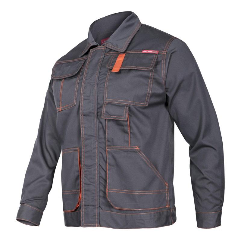 Jacheta lucru mediu-groasa, 5 buzunare, cusaturi triple, talie ajustabila, marime L/H-188