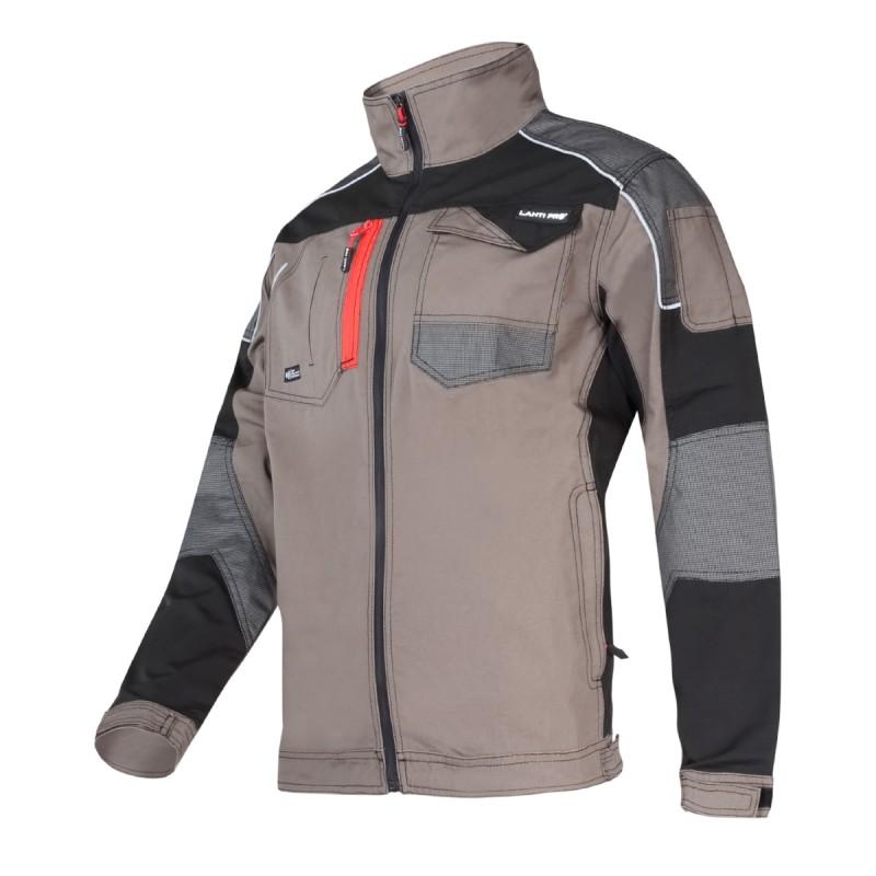 Jacheta lucru slim-fit Lahti Pro, marimea XL, 5 buzunare, design modern, Gri