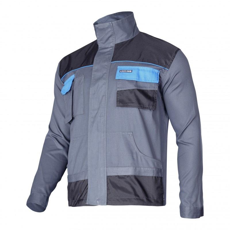 Jacheta lucru subtire bumbac, 7 buzunare, mansete ajustabile, orificii ventilatie, marime XL/56 2021 shopu.ro