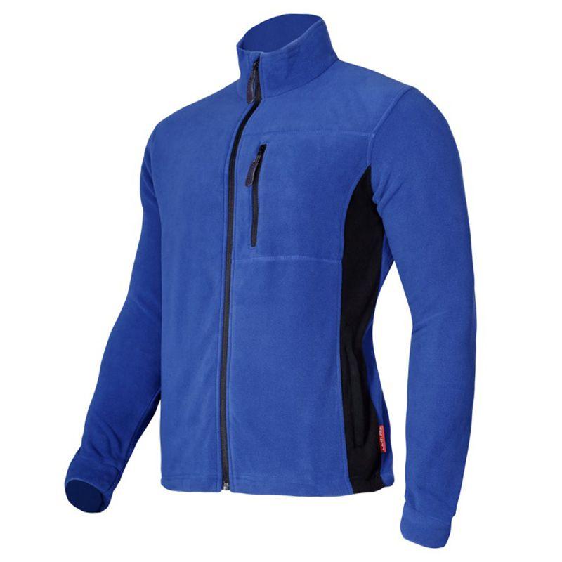 Jacheta polar cu protectie impotriva vantului, marime M, poliester, 3 buzunare, talie ajustabila, Albastru/Negru