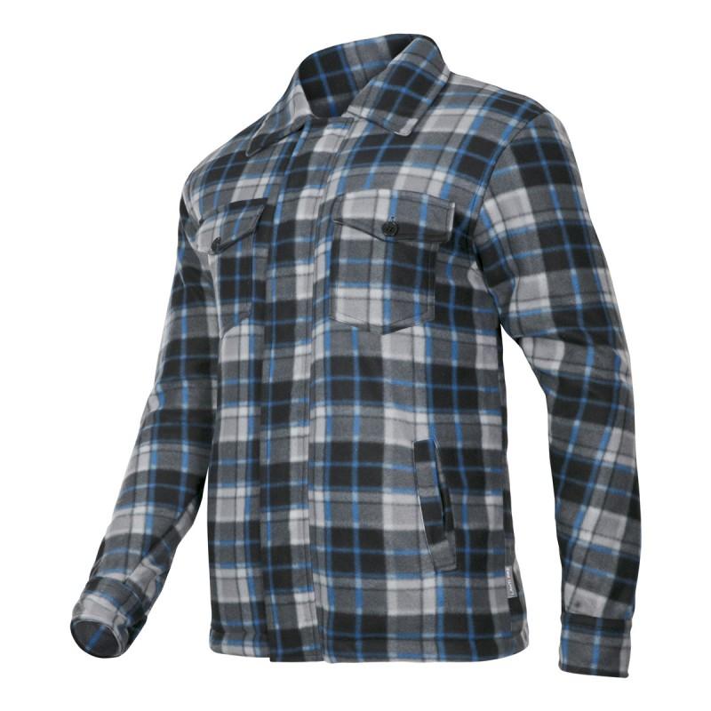 Jacheta Polar cu carouri captusita, 4 buzunare, mansete ajustabile cu nasturi, marime XL
