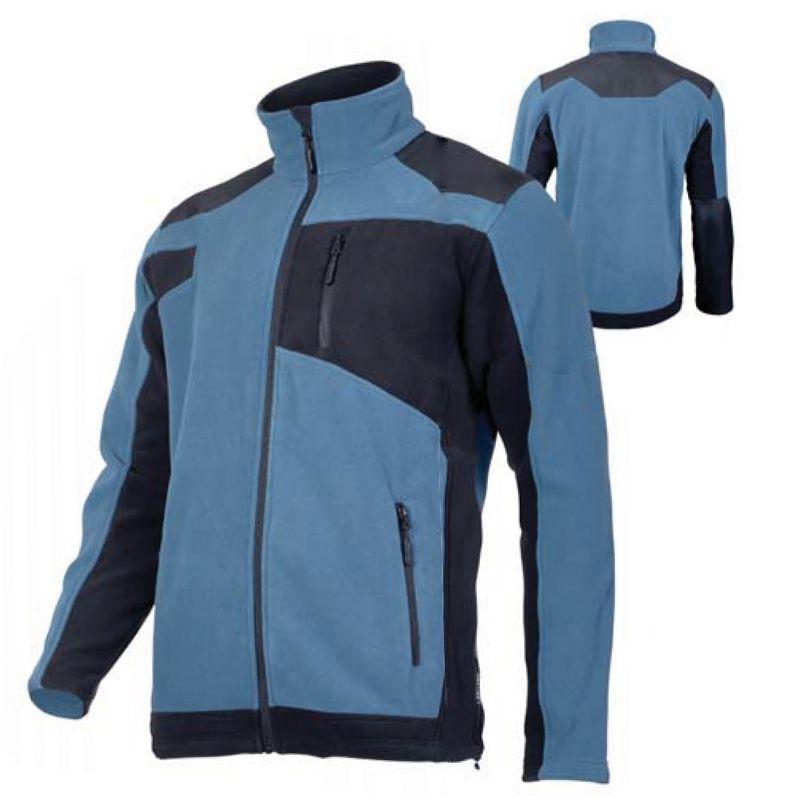 Jacheta Polar cu intaritura, 3 buzunare, talie ajustabila, anti-scamosare, marime 3XL, Albastru/Negru 2021 shopu.ro